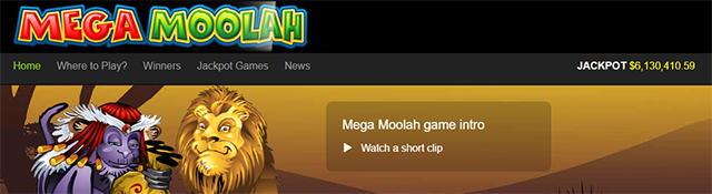 Play Mega Moolah Now