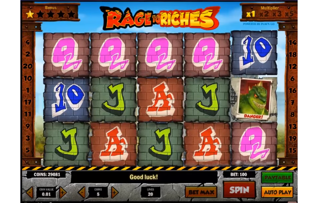 Play Rage to Riches at bet365 Casino